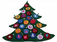 LD Weihnachten Deko Filz-Adventskalender Baum