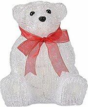 LD Weihnachten Deko LED Eisbär 20cm Weihnachts Deko Beleuchtung Acryl Figur Weihnachten