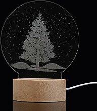 LDAKLE Weihnachten Panel Acryl 3D Led