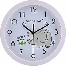 LDB SHOP Wanduhr Kinder Mit Lautlosem Uhrenwerk