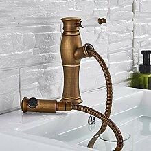 Lddpl Antique Brass Pull Out Becken Wasserhahn