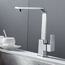 Lddpl Chrom Quadrat Küchenarmatur Waschbecken