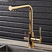 Lddpl Gold Küchenarmatur mit gefiltertem Wasser