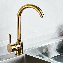Lddpl Luxus Gold Küchenarmatur Gold Messing Für
