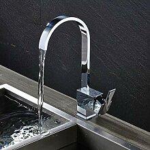 Lddpl Messing Küchenarmatur Einhebel Chrom Bad