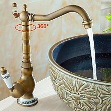 Lddpl Wasserhahn Deck Montiert Antik Messing