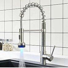 Lddpl Wasserhahn Led Küchenarmatur Nickel
