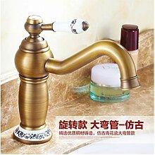 Lddpl Wasserhahn Waschtischarmaturen Antike Bronze
