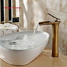 Lddpl Wasserhahn Wasserfall Messing Waschbecken