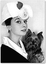 LDJING Leinwanddrucke Bild Filmstar Audrey Hepburn