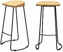 LDM Stuhl Schmiedeeisen Einfache Massivholzleiste