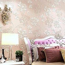 LDMB Tapete 3d Extra-dicken stereoskopischen Vliestapete Restaurant Schlafzimmer Wohnzimmer Hintergrundtapete Rollbild 0.53m * 10m = 5.3? , pink