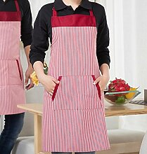 LDONGPENG LD&P Geeignet für Männer und Frauen Schürzen, langlebig, zwei Taschen, verstellbare Schürze,pink,78cm*60cm