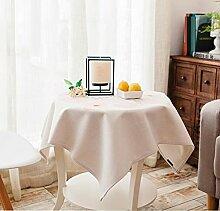 LDONGPENG LD&P Handbemalte Blumentischdecken quadratische Tischdecken Gartentischdecke Tischabdeckung Tuch dekoriert Wohn,B,140*140cm