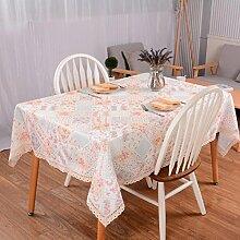 LDONGPENG LD&P Lace Staubdicht Tischdecke für Küche Essen Pub Tischplatte Dekoration Staubdicht/Antifouling Tisch Tischdecke,Light powder,90*90cm
