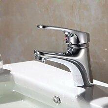 LDONGSH Bad WC Waschbecken Heiß Und Kalt Mischen Mit Wasser Galvanisieren Tap Tap