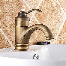 LDONGSH Einloch Becken Im Europäischen Stil Retro Mischen Mit Wasser Zeichnung Bad WC Tap Tap