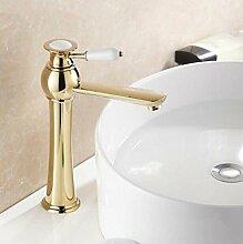 LDONGSH Im Europäischen Stil Im Amerikanischen Stil Satiniert Waschbecken Bubbler Sitzend Kupfer Kälte Galvanik Wasserhähne
