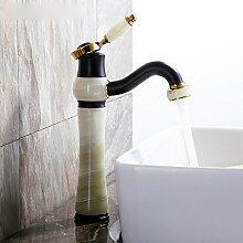 LDONGSH Kupfer Heiß Und Kalt Retro Mischen Mit Wasser Sitzend Im Europäischen Stil Im Amerikanischen Stil Satiniert Waschbecken Bubbler Armaturen
