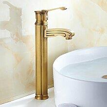 LDONGSH Kupfer Kälte Loch Im Europäischen Stil Im Amerikanischen Stil Satiniert Waschbecken Bubbler Sitzt Tippen