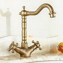 LDONGSH Kupfer Kälte Wasser Mischte Bad Im Europäischen Stil Im Amerikanischen Stil Satiniert Waschbecken Galvanik Wasserhähne