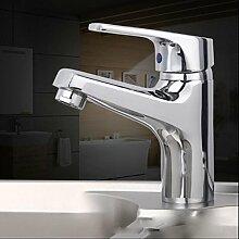 LDONGSH Kupfer Waschbecken Heiß Und Kalt Waschbecken Waschbecken Waschbecken Badezimmerschrank Einzelner Handgriff Tap Tap