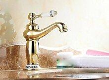 LDONGSH Mischen Von Wasser Kupfer Eitelkeiten European Kälte Loch Waschbecken Galvanik Badezimmerarmaturen TAP