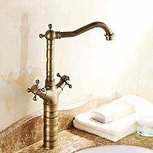 LDONGSH Retro Im Europäischen Stil Im Amerikanischen Stil Satiniert Waschbecken Bubbler Sitzend Galvanik Wasserhähne