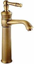 LDONGSH Retro Kupfer Heiß Und Kalt Im Europäischen Stil Im Amerikanischen Stil Satiniert Waschbecken Bubbler Sitzend Waschbecken Wasserhahn