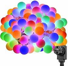 LE 100er LED Kugel Lichterkette 10M Mehrfarbig,