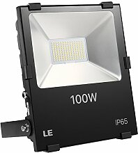 LE 100W Fluter ersetzt 400W Hochdrucknatriumlampe 11000LM Kaltweiß IP65 wasserdicht 110°Abstrahlwinkel led Flutlicht Außenleuchte Flutlichtstrahler