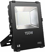 LE 150W LED Fluter ersetzt 400W Hochdrucknatriumlampe 16500LM Kaltweiß IP65 wasserdicht 110°Abstrahlwinkel led Flutlicht Außenleuchte Flutlichtstrahler