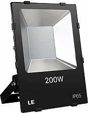 LE 200W LED Fluter ersetzt 600W Hochdrucknatriumlampe 22000LM Kaltweiß IP65 wasserdicht 110°Abstrahlwinkel led Flutlicht Außenleuchte Flutlichtstrahler