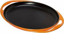 Le Creuset 20128000900460 Grillplatte, oval,