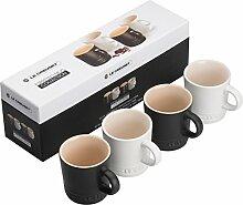 LE CREUSET Espressobecher 100ml 4er Set, 2X,