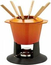 Le Creuset Fondue-Set Gourmand Gusseisen Ofenrot