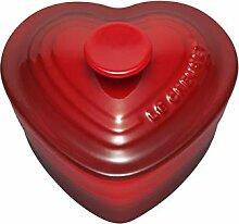 Le Creuset Herzförmige Auflaufform mit Deckel,
