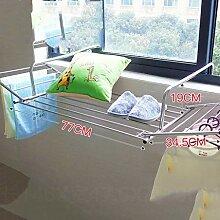 LE Edelstahl Wäscheständer, Fenster Balkon Zaun