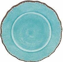 Le Fußmatte Cadeaux Antiqua türkis 22,9cm rund