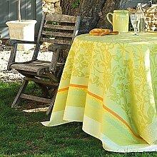 Le Jacquard Francais Provence Citron Vert Tischdecke abwaschbar 135/175
