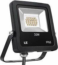 LE LED Strahler, 20W 1600 Lumen Superhell Fluter,