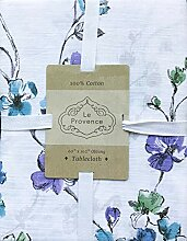 Le Provence Stoff-Tischdecke, Blumenmuster in