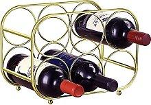 LEACHUTT Weinregal aus Metall für 6 Flaschen,