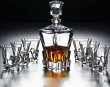 Lead Free Crystal Whiskey Dekanter (850ml) und Set