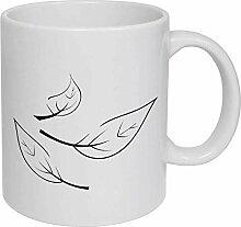 Leaf' Ceramic Mug/Travel Coffee Mug