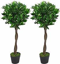 Leaf Künstliche Buchsbaumkugel, gedrehter Stiel,