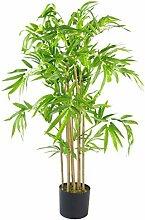 Leaf Künstlicher Bambus mit Topf, 120 cm, buschig