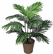 Leaf Kunstpflanze Areca-Palme, groß, 90 cm, Grün