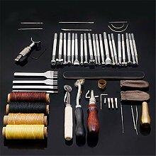 LEAMALLS 45 Stück Handnähen Lederbearbeitungs