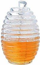 LEAMALLS Honigspender mit Honigbehälter für Saft